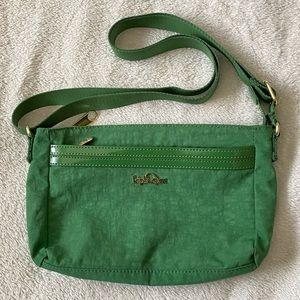 Kipling grass green cross body purse
